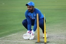 Sanju Samson does wicketkeeping practice, India v Bangladesh, 2nd T20I, Rajkot, November 7, 2019