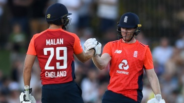 Dawid Malan and Eoin Morgan added 182 runs for the third wicket