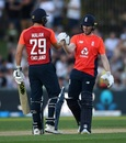 Dawid Malan and Eoin Morgan added 182 runs for the third wicket, New Zealand v England, 4th T20I, Napier, November 8, 2019