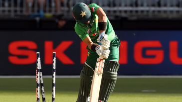 Mohammad Rizwan had no answer for Mitchell Starc's swing