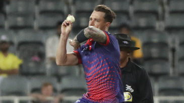 Dale Steyn is about to deliver