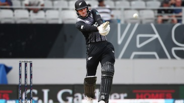 Martin Guptill goes for the big one
