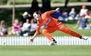 Heather Graham dives to field off her own bowling, Perth Scorchers v Sydney Thunder, Women's Big Bash League 2019-20, Adelaide, November 10, 2019