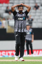 Ish Sodhi struggled with the ball throughout New Zealand's series against England, New Zealand v England, 5th T20I, Eden Park, November 10, 2019
