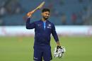 A bat- and gloves-wielding Rishabh Pant wears a grin, India v Bangladesh, 3rd T20I, Nagpur, November 10, 2019