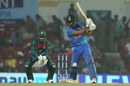 KL Rahul crunches one onto the off side, India v Bangladesh, 3rd T20I, Nagpur, November 10, 2019