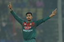 Soumya Sarkar celebrates a wicket, India v Bangladesh, 3rd T20I, Nagpur, November 10, 2019