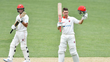Henry Hunt brought up his maiden first-class hundred