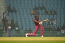 Roston Chase plays one on the off side, Afghanistan v West Indies, 1st ODI, Lucknow, November 6, 2019