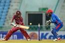 Nicholas Pooran plays one towards third man, Afghanistan v West Indies, 2nd ODI, Lucknow, November 9, 2019