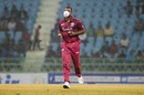 Evin Lewis wears a face mask to avoid bugs, Afghanistan v West Indies, 2nd ODI, Lucknow, November 9, 2019