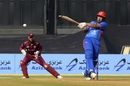 Hazratullah Zazai goes legside to a short ball, Afghanistan v West Indies, 3rd ODI, Lucknow, November 11, 2019