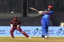 Hazratullah Zazai goes legside to a short ball, Afghanistan v West Indies, 3rd ODI, Lucknow, November 11, 2019