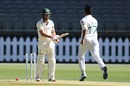 Joe Burns was bowled first ball by Imran Khan, Australia A v Pakistanis, Tour match, Perth Stadium, November 12, 2019