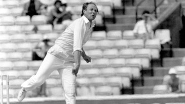 Modest Marks: bowling for England against New Zealand at The Oval in 1983