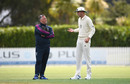Stuart Broad chats with England's bowling consultant Darren Gough, New Zealand XI v England XI, Cobham Oval, Whangarei, Day 2, November 13, 2019