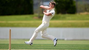Sam Curran bowls during England's tour match