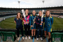 Tammy Beaumont, Lea Tahuhu, Georgia Wareham, Danni Wyatt and Sophie Molineux mark 100 days until the T20 World Cup, Melbourne, November 13, 2019