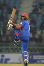 Mohammad Nabi plays a pull, Afghanistan v West Indies, 3rd ODI, Lucknow, November 11, 2019
