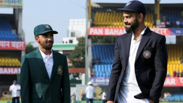 Mominul Haque looks at Virat Kohli in admiration on his captaincy debut