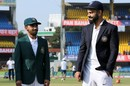 Mominul Haque looks at Virat Kohli in admiration on his captaincy debut, India v Bangladesh, 1st Test, Indore, 1st day, November 14, 2019