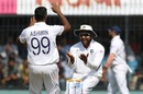 R Ashwin and Rohit Sharma celebrate a wicket, India v Bangladesh, 1st Test, Indore, 1st day, November 14, 2019