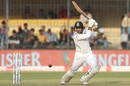 Mayank AGarwal flays one through the off side, India v Bangladesh, 1st Test, Indore, 1st day, November 14, 2019