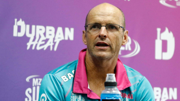 Gary Kirsten interacts with the media