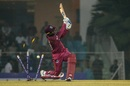 Denesh Ramdin is bowled, Afghanistan v West Indies, 1st T20I, Lucknow, November 14, 2019