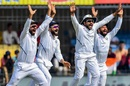 Ajinkya Rahane, Virat Kohli, Rohit Sharma and Cheteshwar Pujara go up in appeal, India v Bangladesh, 1st Test, Indore, 3rd day, November 16, 2019