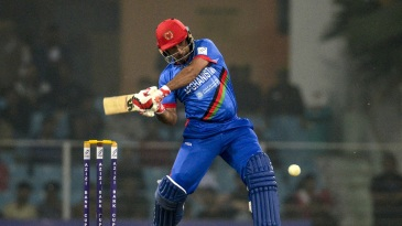 Asghar Afghan swings one across the line