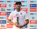 Mayank Agarwal poses with the Player-of-the-Match Award, India v Bangladesh, 1st Test, Indore, 3rd day, November 16, 2019