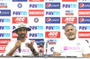 Vikram Rathour and Bharat Arun at a press conference, India v Bangladesh, 1st Test, Indore, 3rd day, November 16, 2019