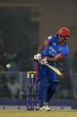 Najibullah Zadran plays one through the on side, Afghanistan v West Indies, 1st T20I, Lucknow, November 14, 2019