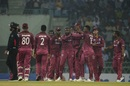 Kesrick Williams celebrates a wicket, Afghanistan v West Indies, 2nd T20I, Lucknow, November 16, 2019