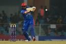 Karim Janat takes on the short ball, Afghanistan v West Indies, 2nd T20I, Lucknow, November 16, 2019