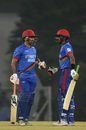 Brothers in arms - Asghar Afghan and Karim Janat, Afghanistan v West Indies, 2nd T20I, Lucknow, November 16, 2019