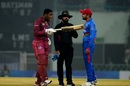 Shimron Hetmyer exchanged some words with the Afghanistan fielders, Afghanistan v West Indies, 2nd T20I, Lucknow, November 16, 2019