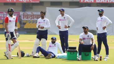 The teams are training with the pink ball in Indore before leaving for Kolkata