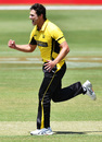 Nathan Coulter-Nile celebrates a wicket, South Australia v Western Australia, Marsh Cup, Adelaide, November 17, 2019