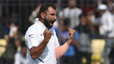 Mohammed Shami picked up seven wickets in the Indore Test