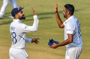 Virat Kohli and R Ashwin congratulate each other, India v Bangladesh, 1st Test, Indore, 3rd day, November 16, 2019