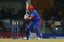 Rahmanullah Gurbaz keeps a close eye on the ball, Afghanistan v West Indies, 3rd T20I, Lucknow, November 17, 2019