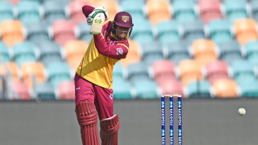 Usman Khawaja drives as his fine one-day form continued