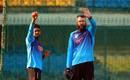 Mehidy Hasan Miraz trains with Daniel Vettori, Indore, November 18, 2019