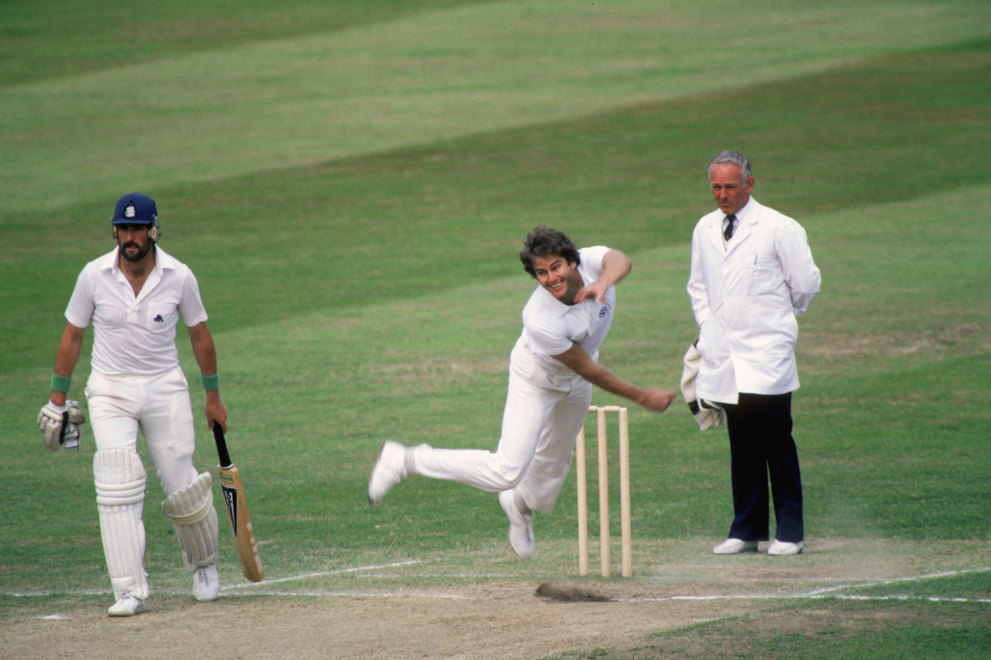 Twist and shout: Alderman at Lord's in 1981. He took 42 wickets in that Ashes series, and 41 in the 1989 one
