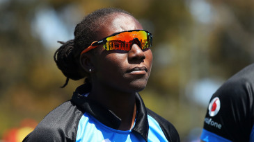 Stafanie Taylor during a team talk with her WBBL side Adelaide Strikers