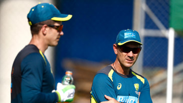 Tim Paine chats with Justin Langer