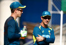Tim Paine chats with Justin Langer, Brisbane, November 19, 2019