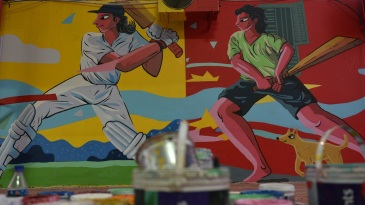 Eden Gardens gets ready for the pink-ball Test